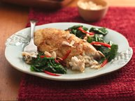 Brown Butter Fish Florentine