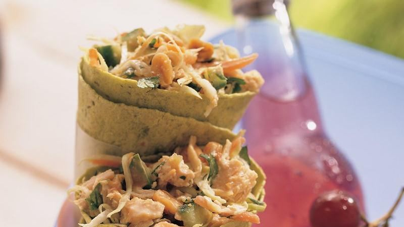 Thai Chicken Salad Cones