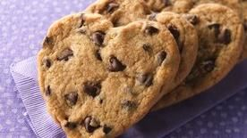 Chocolate Chip Heart Cookies