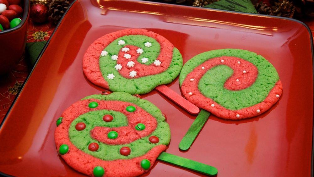 Christmas Lollipop Sugar Cookies