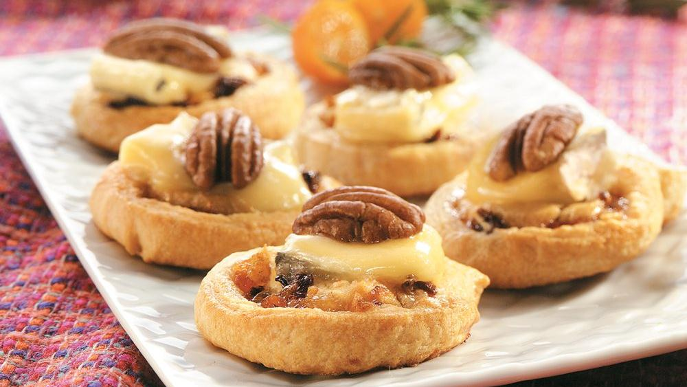 Pecan and Blue Cheese Crescent Bites