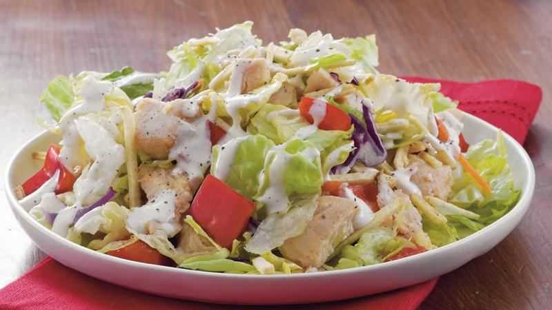 Shoestring Potato Chicken Salad