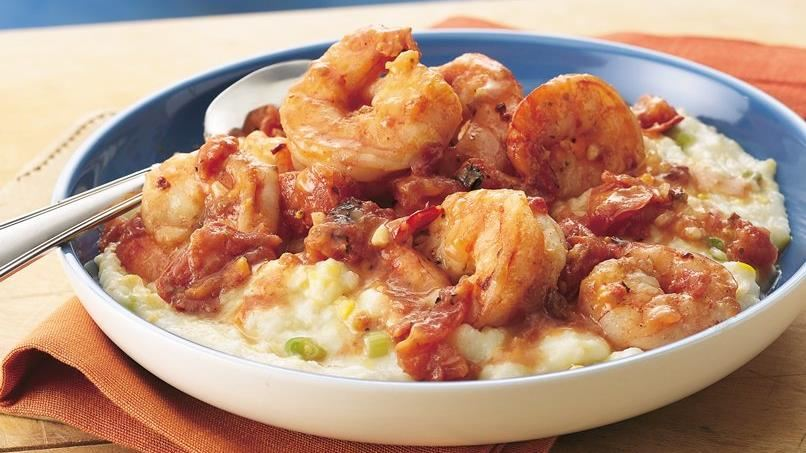 Smoky Shrimp with Creamy Grits