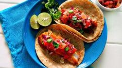 Tilapia Tacos with Grapefruit Salsa