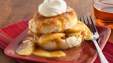 Caramel-Apple Shortcakes