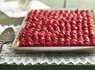 Fresh Raspberry Almond Tray Tart