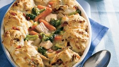 Turkey-Biscuit Pot Pie