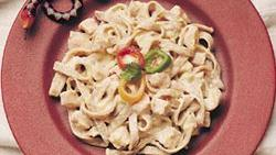 Chipotle Fettuccine with Smoked Turkey