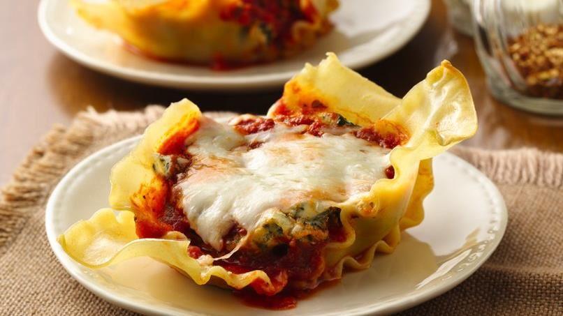 Spinach Lasagna Cupcakes