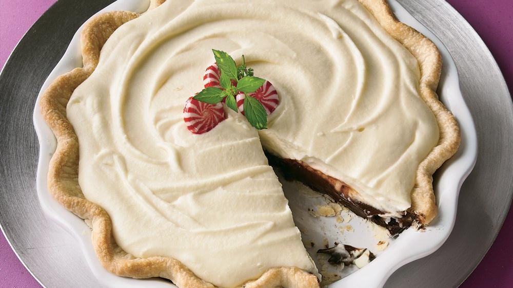 Peppermint Truffle Pie