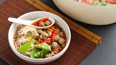 Spicy Asian Turkey-Noodle Soup