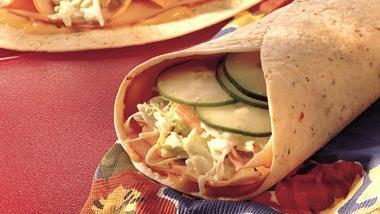 Honey Mustard-Turkey Tortillas