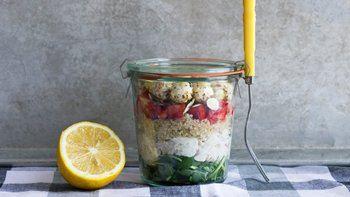 Layered Quinoa Chicken Salad