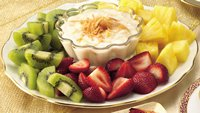 Gluten-Free Fruit with Piña Colada Dip