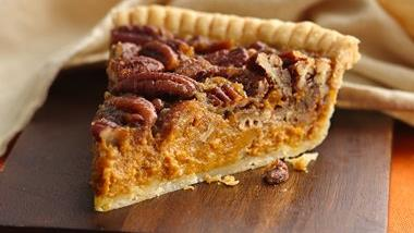 Pecan-Pumpkin Pie