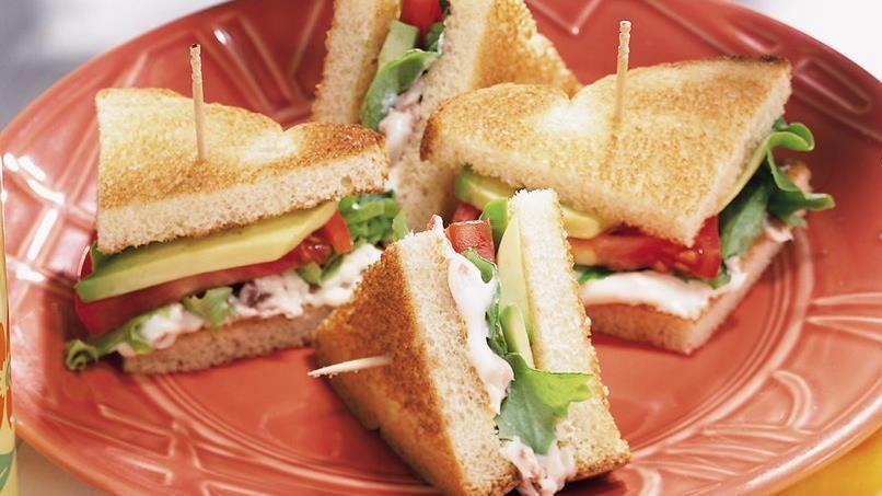 Avocado, Lettuce and Tomato Sandwiches