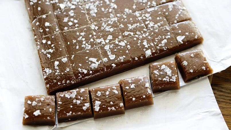 Salted Whiskey Caramels