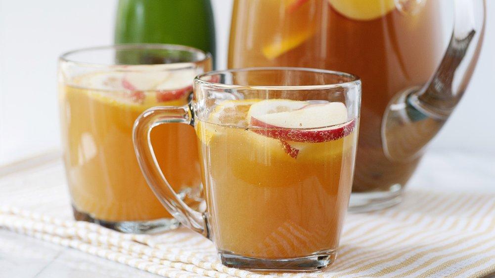 Slow-Cooker Apple Cider Sparklers