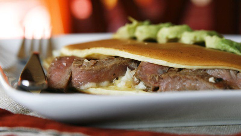 Steak and Blue Cheese Breakfast Tacos