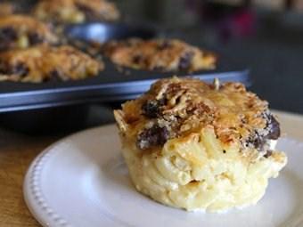 Italian Mac and Cheese Muffins