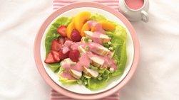 Strawberry-Peach Chicken Salad