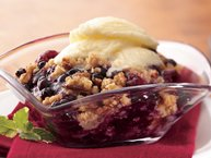 Two-Berry Crisp with Pecan Streusel Topping