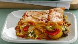 Roasted Vegetable Lasagna with Goat Cheese