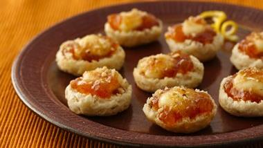 Peach and Brie Biscuit Bites