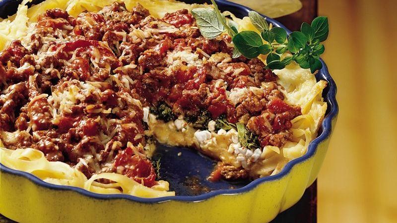 Italian Fettuccine Pie