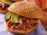 Slow-Cooker Chipotle Pulled-Pork Sandwiches