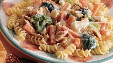 Tuna Primavera with Pasta