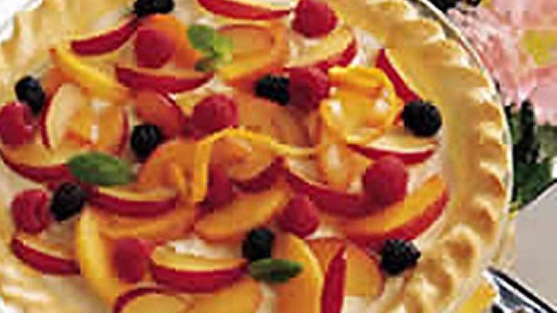Fresh Fruit Devonshire Pie