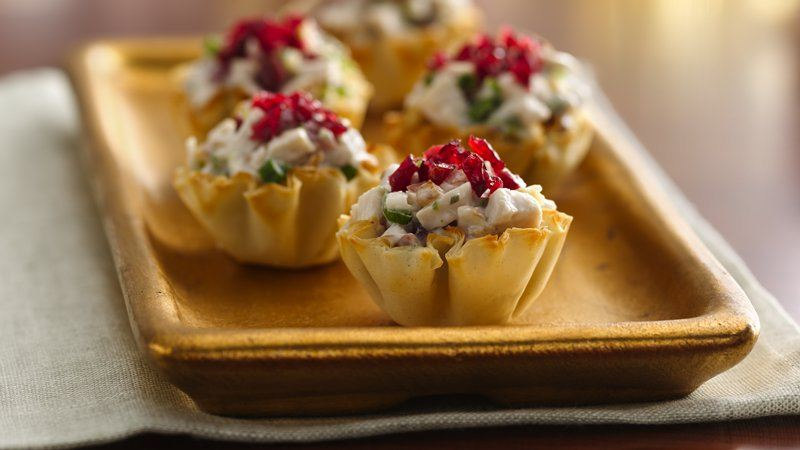 Cranberry Chicken Fillo Cups