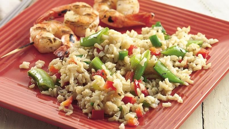 Bulgur Pilaf with Pea Pods