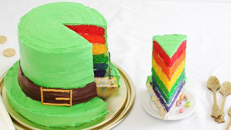 Lucky Charms 174 Leprechaun Hat Cake Recipe From Betty Crocker