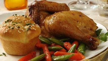 Cornish Hen with Roasted Vegetables