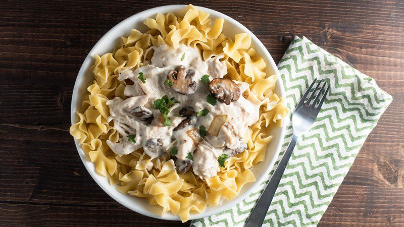Slow-Cooker Chicken Stroganoff recipe from Betty Crocker