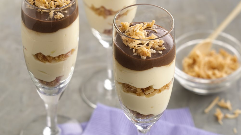 Toasted Coconut Cheesecake Parfaits