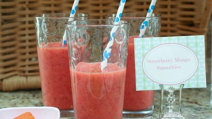 Strawberry Mango Smoothies