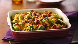 Cheesy Bacon Brussels Sprouts