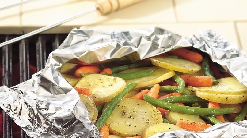 Grilled Garden Vegetable Medley Foil Packs