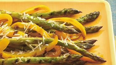 Parmesan-Asparagus and Bell Pepper