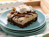 Turtle Brownie Ice Cream Dessert