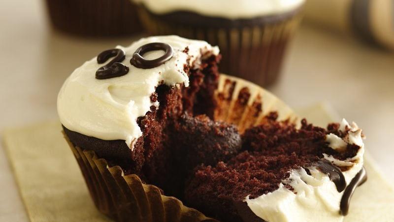 Surprise Graduation Cupcakes