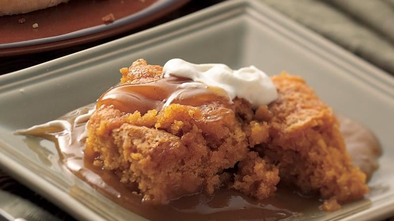 Pumpkin and Spiced-Cider Pudding Cake