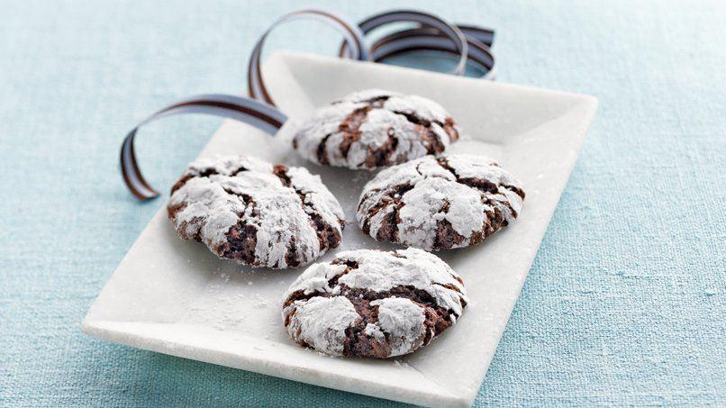 Spiced Almond-Chocolate Crinkles