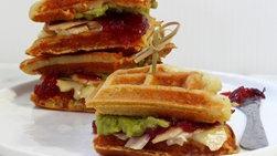 Waffle and Turkey Sandwiches