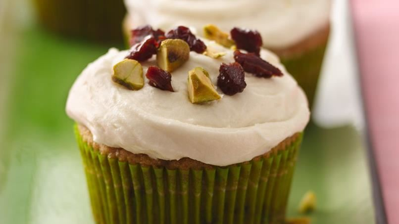 Dried Cherry and Pistachio Cupcakes