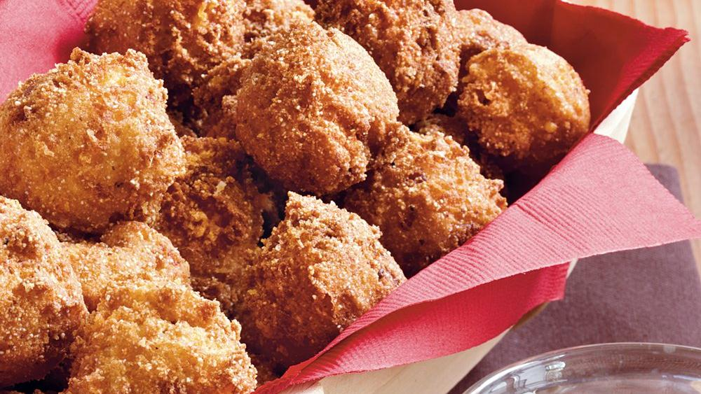 Bacon-Cheddar Hush Puppies