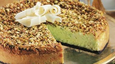 Pistachio-White Chocolate Cheesecake
